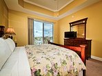 Enjoy views of Clearwater Harbor from the master bedroom.