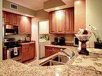 Complete kitchen with granite countertops