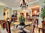 A comfortable dining space