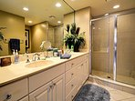 Roomy master bathroom with walk in shower