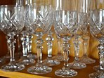 Crystal glasses for special occasions at The Mill House!