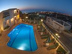 A night view of the pool!