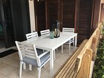 Outdoor dining for up to 6