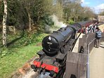 Haworth is a great destination for steam train enthusiasts