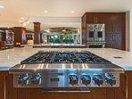 Subzero appliances, Mahogany Cabinets, Double Oven, Beverage Drawers,  Microwaves, Dishwashers!