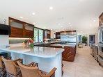 View From Breakfast Nook Through Kitchen to Living Room & Half Bath