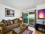 Gorgeous Living Room Area. See the ocean?! Direct oceanfront living!