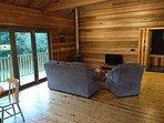 Cosy lounge, log burner and flat screen TV/DVD