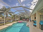 With a heated screened-in swimming pool, this vacation rental house promises a revitalizing retreat!