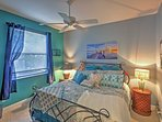 Sail away into lovely beach dreams while sleeping in this comfy king-sized bed.