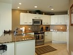 Full gourmet kitchen with all the appliances and cookware for the family to enjoy meals together.