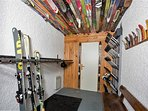 Large Ski Room with Heated Boot Driers for 18 pares of boots!