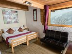 The Vanoise suite - with Double, Bunk and Large Balcony