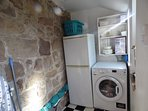 Laundry room - washer dryer and fridge freezer
