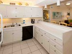 Tiled kitchen with all appliances