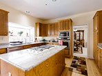 Kitchen with Island, Granite Countertop, Stainless Steel Appliances
