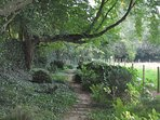 The beautiful gardens at Maizicourt are just up the road.