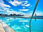 Waterside heated pool is a bonus.