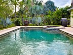 Enjoy sunny Florida days by the pool