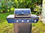 Poolside BBQ grill