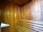 Sauna for guests