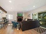 Living room opens to ocean view deck