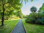 Back garden path from car park