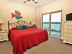 Guest Bedroom with Private Lagoon View Balcony