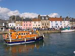The Anstruther lifeboat in the harbour which boasts lots of lovely places to eat...