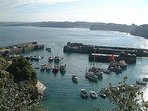 Newquay Harbour at High Tide