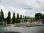 Playground, behind rental