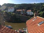 Stunning views of Staithes Beck from the rear rooms of the cottage