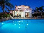 Villa Astro at Nght