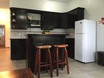 Spacious kitchen in two bedroom suite
