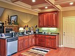 Show off your cooking skills in the fully equipped kitchen.