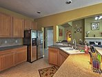 Create family favorite recipes in the fully equipped kitchen.