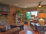 The upstairs living area provides another space for relaxation.