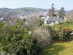 View over Totnes from bedroom two