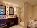 Waikiki Watermark - Master bathroom with spa tub