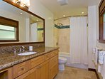 Diamond Head Tiki Estate - Master bathroom with shower/tub