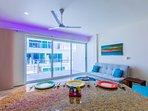 Floor to ceiling pocket doors for inside/outside living
