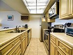 Full kitchen makes this a home away from home