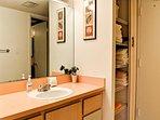 Separate vanity in master bathroom