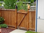 Secure yard for pets and children