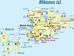 Mykonos Map area Kalafatis