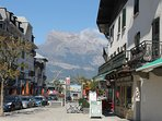 Downtown, Saint Gervais. Avenue Mont du Paccard. Photo by Andy Greaves, proprietor