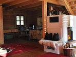 Holzofen im Blockhaus - urgemütlich zu zweit