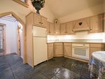 The Casle Cottage kitchen.