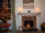 A log fire for Christmas and the New Year.