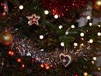 Christmas lights at Hope Cottage.